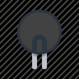 circle, detail, radio, thermistor icon