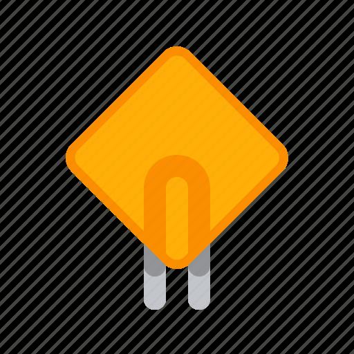 detail, radio, square, thermistor icon