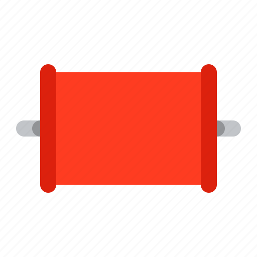big, capacitor, component, detail, radio, red icon
