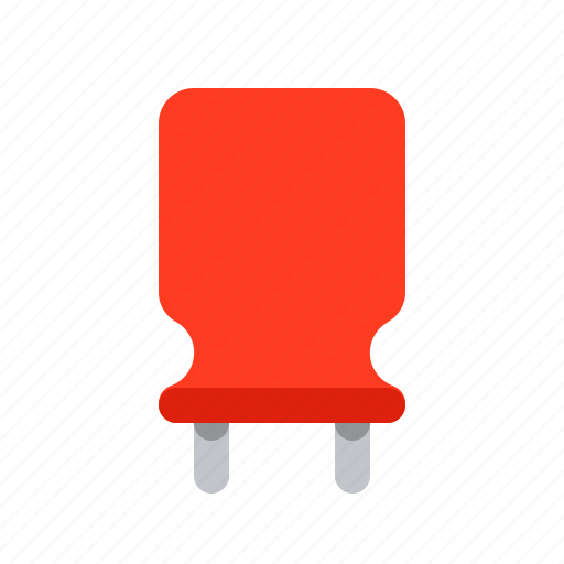 capacitor, component, detail, radio, red, vertical icon