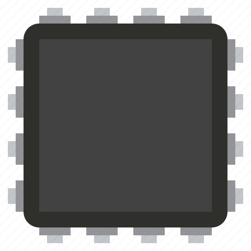 chip, component, detail, memory, radio, square icon