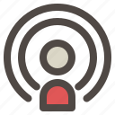 podcast, radio, signal, station, waves icon
