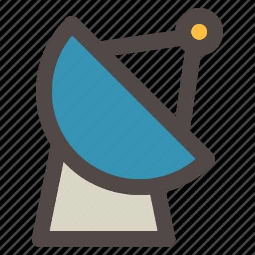 antenna, parabolic, radio, satellite, technology icon