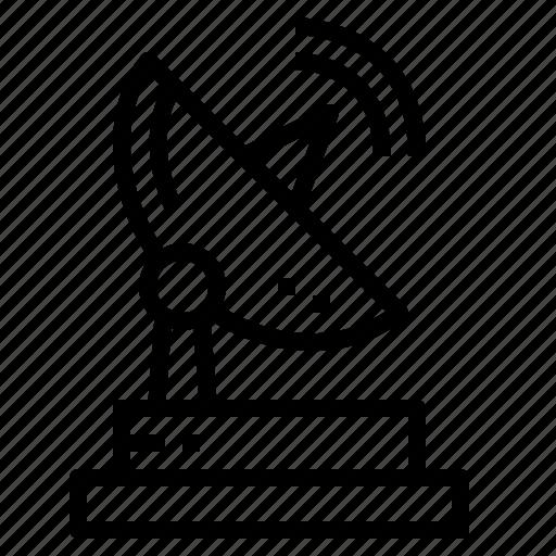 antenna, dish, radar, satellite, technology icon