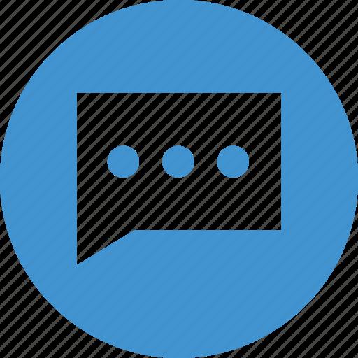 bubble, chat, comment, talk icon