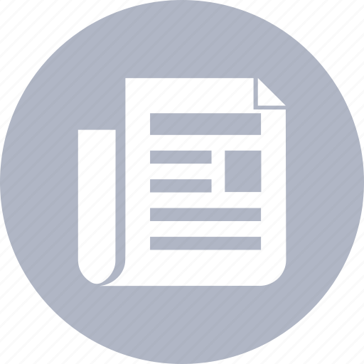 content, file, news, newspaper, paper icon