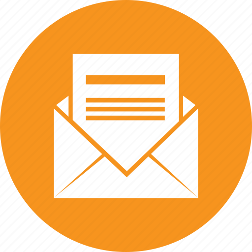 email, envelope, letter, message, opened icon