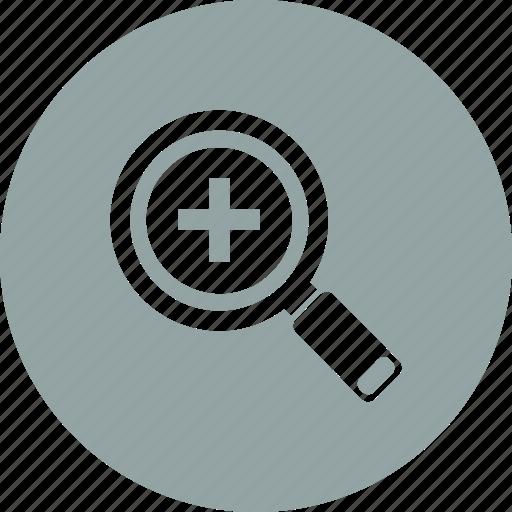 add, explore, plus, search, view icon