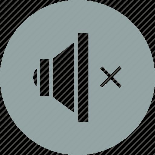 mute, player, sound, volume icon