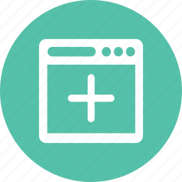 add, browser, create, navigator, new icon