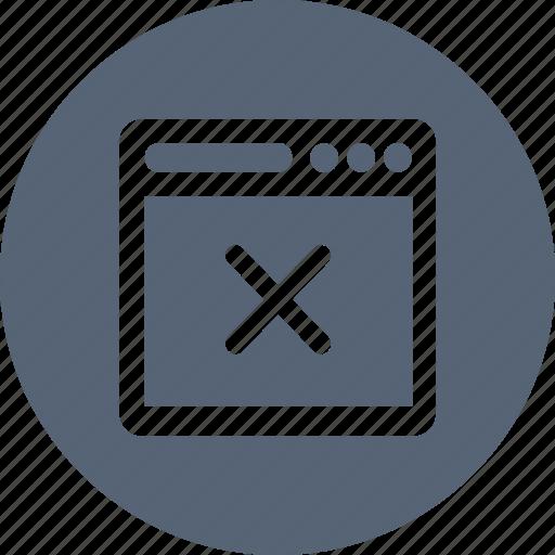 browser, cancel, delete, navigator, remove icon
