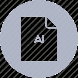 adobe, document, extension, file, illustrator icon