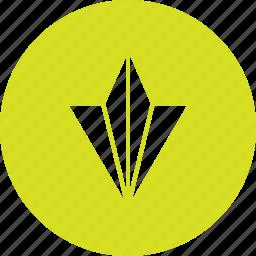 aircraft, arrow, bottom, direction, down icon