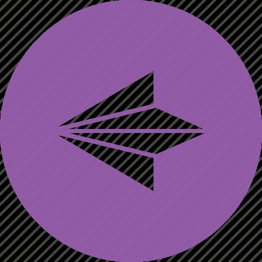 arrow, back, direction, left, next, previous, return icon