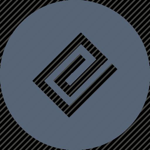 attach, clip, file, paper icon