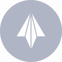 aircraft, arrow, direction, paper, top, up icon