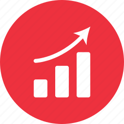 arrow, graph, growth, report, statistics, up icon