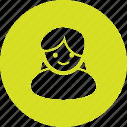 account, avatar, girl, profile, user icon