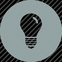 bulb, idea, lamp icon