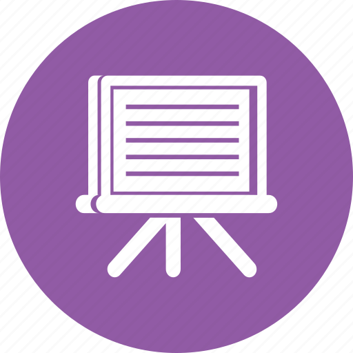 learning, office, panel, school, screen, show, study icon