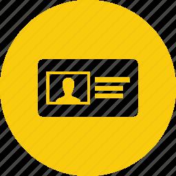 badge, member, participant, profile, subscriber, vcard icon