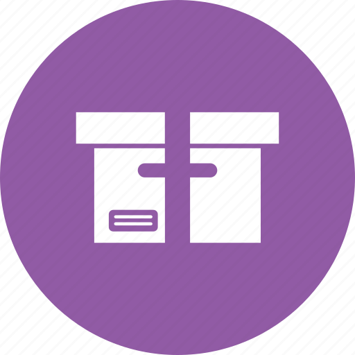 archives, box, delivery, files, goods icon