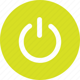 computer, energy, off, on, power icon
