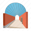 arch, cartoon, metro, station, subway, transparent, urban icon