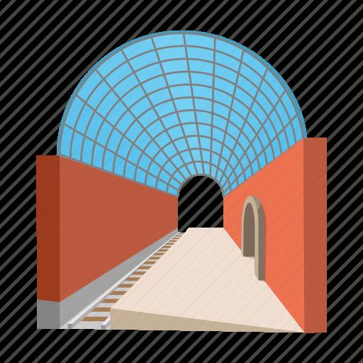 arch, cartoon, metro, station, subway, transparent, urban icon