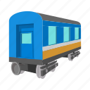 cartoon, railway, track, train, transport, transportation, wagon icon