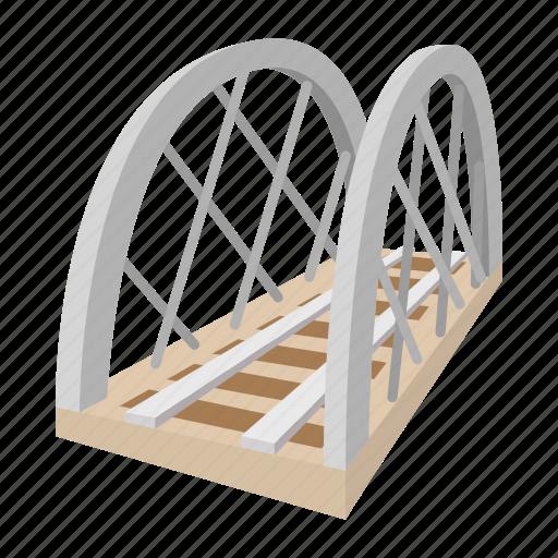 architecture, bridge, cartoon, rail, railroad, railway, train icon