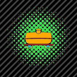 comics, freight, railroad, railway, tank, train, transport icon