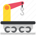 crane, jenny, railway, train, transport, transportation, wagon icon