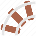 rails, railway, road, train, transport, transportation, twist icon