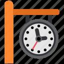 clock, railway, station, time, train, transportation, watch icon