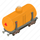 gasoline, isometric, object, train, transport, transportation, wagon