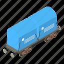 cargo, isometric, object, train, transport, transportation, wagon