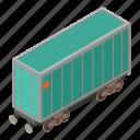 isometric, locomotive, object, train, transport, transportation, wagon