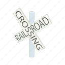cartoon, railroad, sign, signal, traffic, train, transportation icon