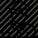 checker, collector, person, ticket, ticket collector, ticket taker icon