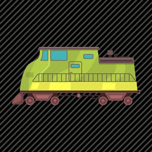 Diesel locomotive, station, train, transport, transportation, vehicle icon - Download on Iconfinder