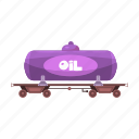 railway, station, tank, transport, vehicle, wagon