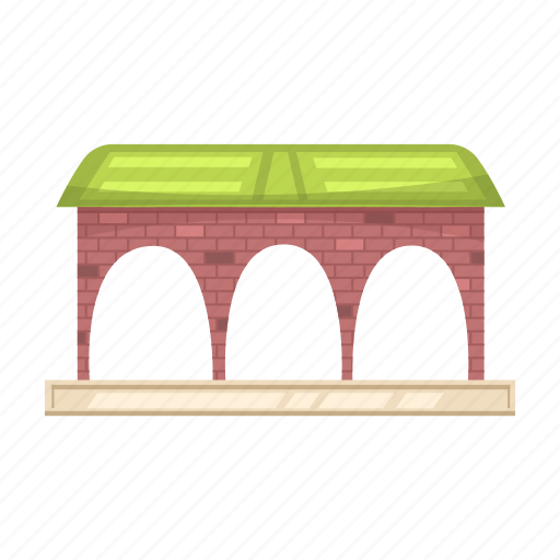 arch, building, canopy, construction, station icon