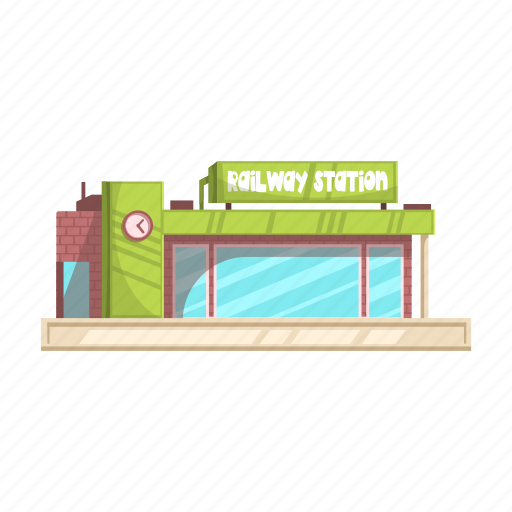 Architecture, building, construction, railway, station icon - Download on Iconfinder