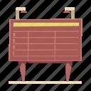 date, schedule, scoreboard, station, time, train