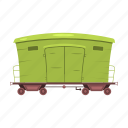 railway, station, transport, wagon