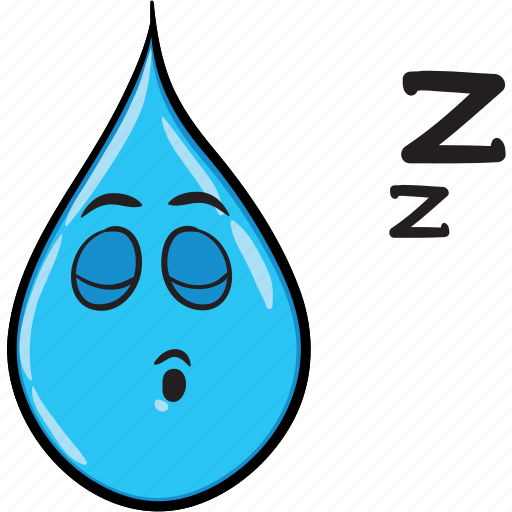 Cartoon, drop, emoji, rain, smiley icon 10 Rain Emoji