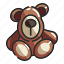 soft, teddy, bear, baby, brown, childhood, toy