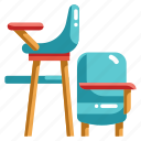 chair, baby, sitting, seat, kid, child