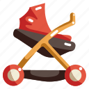 baby, care, child, kid, motherhood, stroller icon